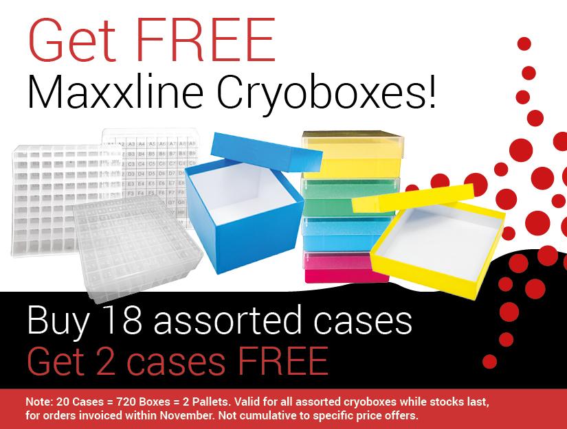Get FREE Maxxline Cryoboxes